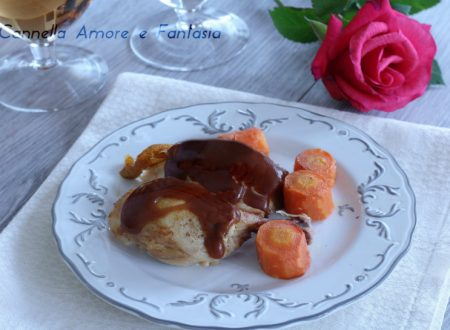 Pollo al vino porto in slow cooker