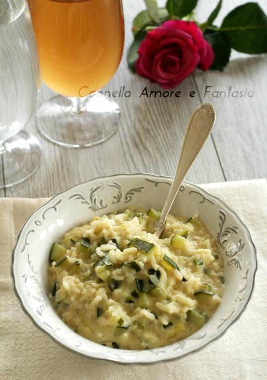 risotto al gorgonzola e zucchine ..