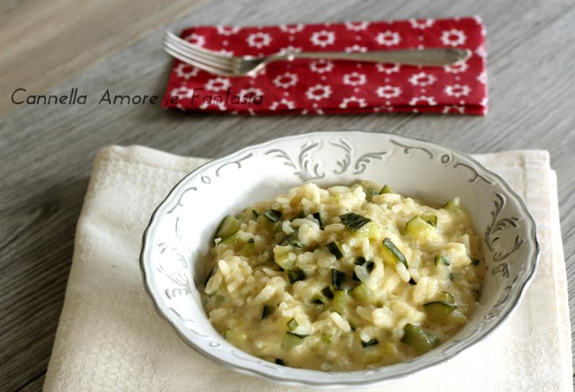 Risotto al gorgonzola e zucchine