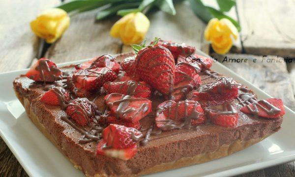 Cheesecake cacao e fragole