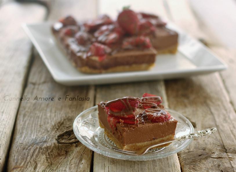 Cheesecake al cacao e fragole +++