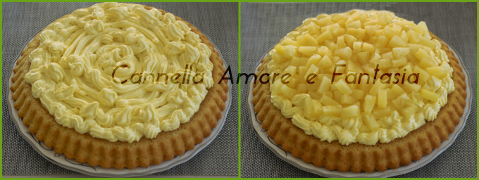 Crostata morbida all'ananas collage 2