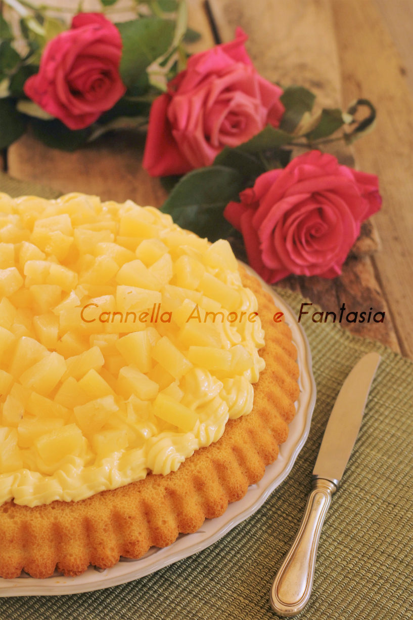 Crostata morbida all'ananas