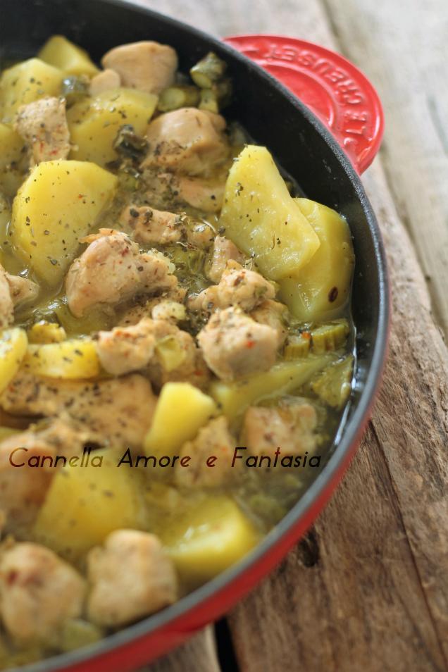 Spezzatino di pollo asparagi e patate