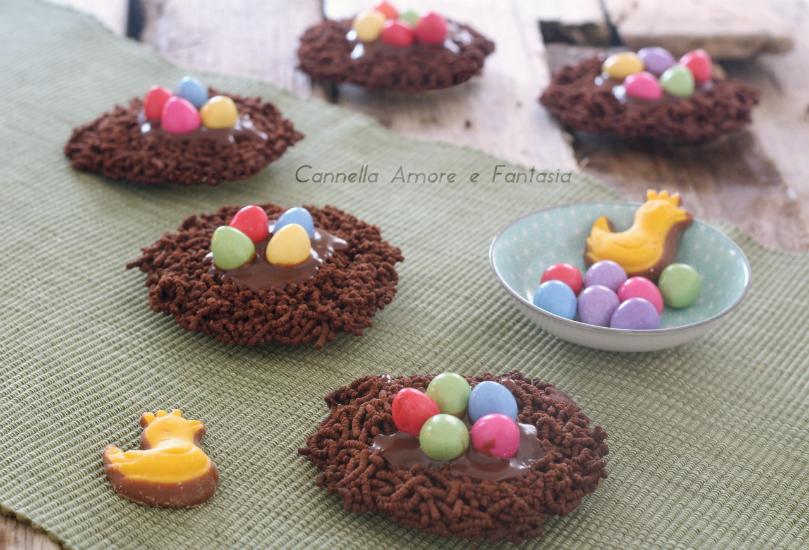 nidi di cioccolato per pasqua +