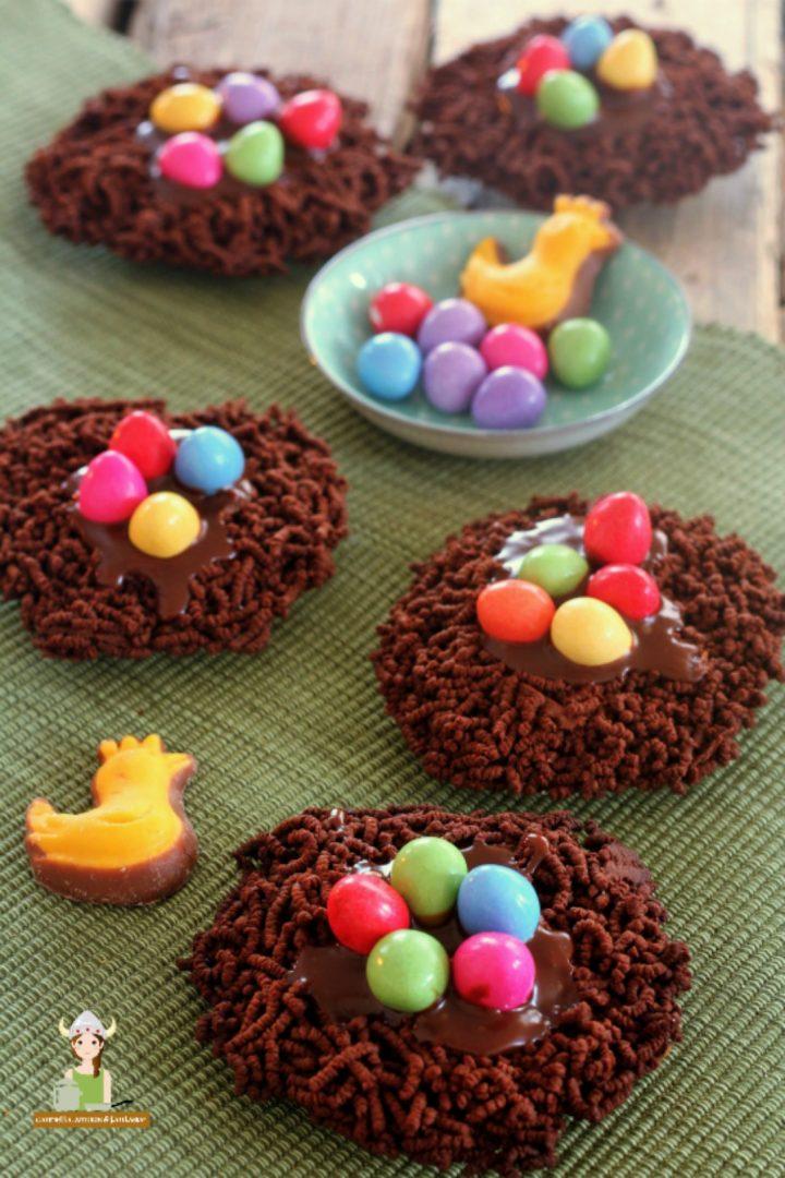 Nidi di cioccolato per Pasqua