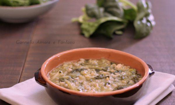 Minestra orzo e spinaci
