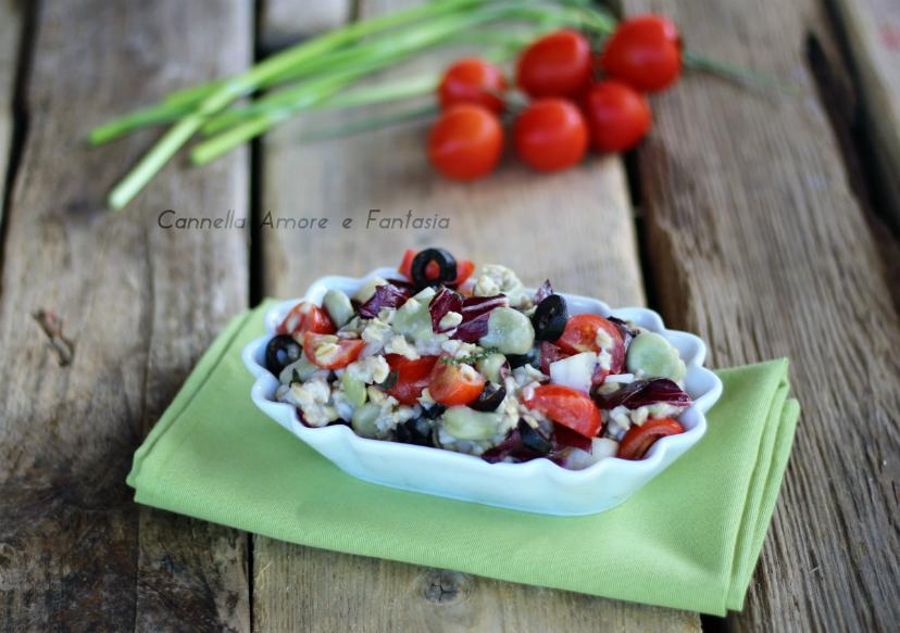 Insalata di farro con verdure ricetta light
