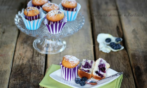 Muffin ai mirtilli freschi
