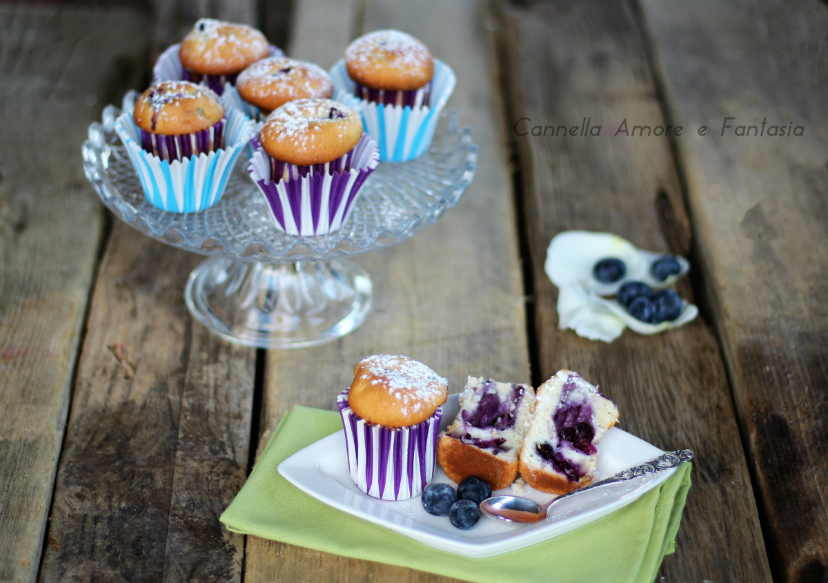 Muffin ai mirtilli freschi