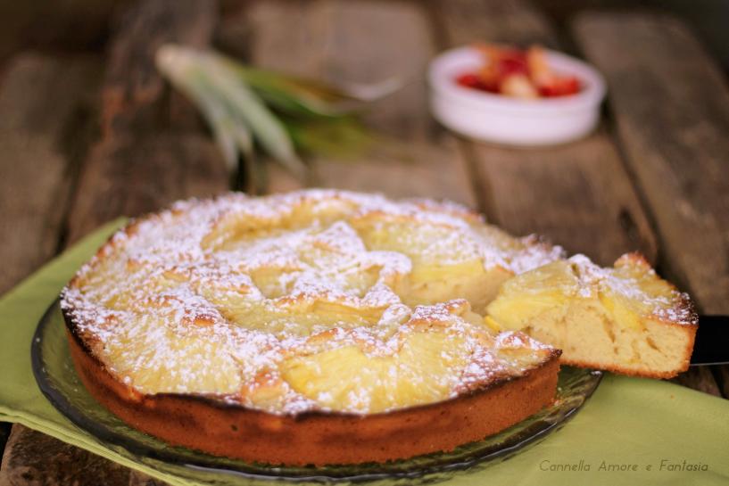 Torta all'ananas con farina di farro - senza lattosio