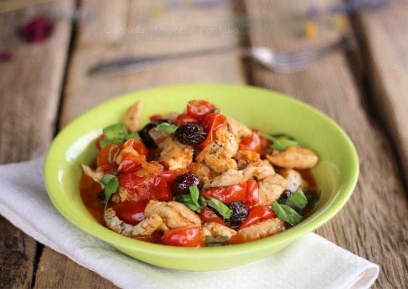 Straccetti di pollo alla siciliana oriz.