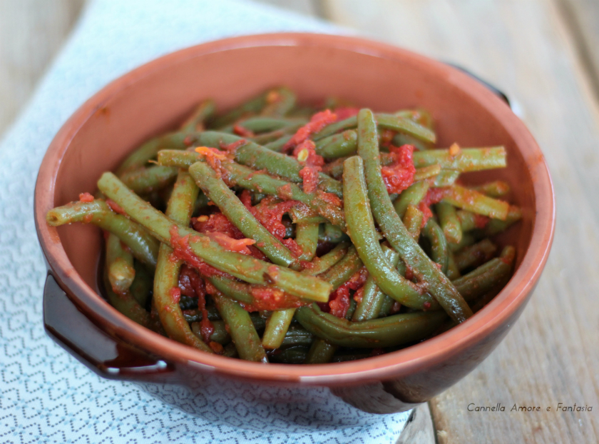 Fagiolini al pomodoro - ricetta siciliana