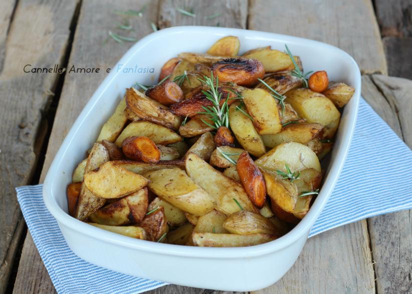 Patate e carote con paprika e rosmarino