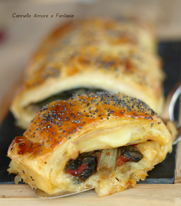 Rotolo con bietola prosciutto e formaggio ricetta