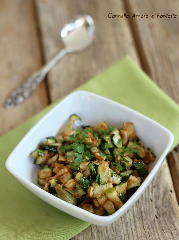 zucchine trifolate alla siciliana ricetta
