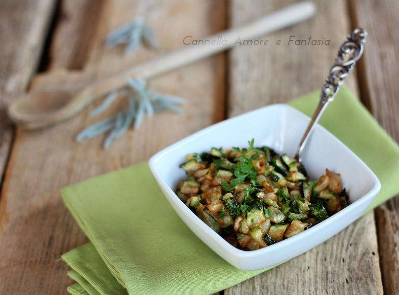 Zucchine trifolate alla siciliana