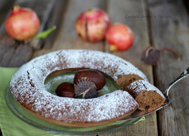 Ciambella con farina di castagne e cioccolato