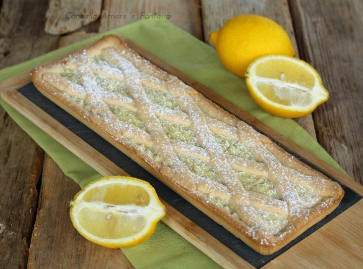 Crostata con crema pasticcera al limone ricetta