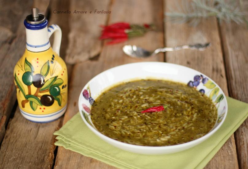 Vellutata di verdure con riso e quinoa