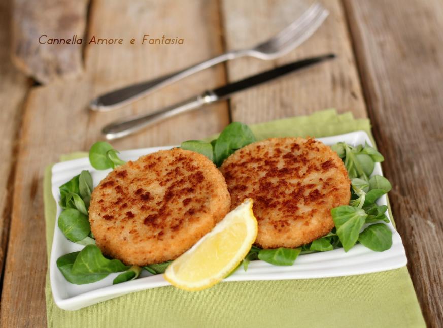 Hamburger di salmone con doppia panatura