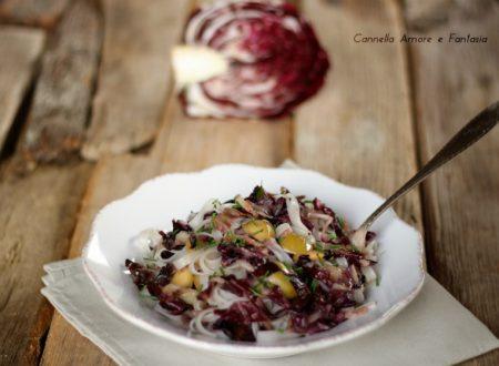 Tagliatelle di riso con radicchio e olive