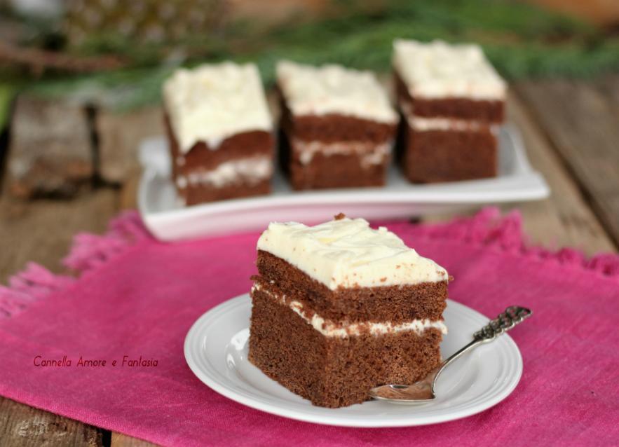 Brownies cacao barbabietola e philadelphia