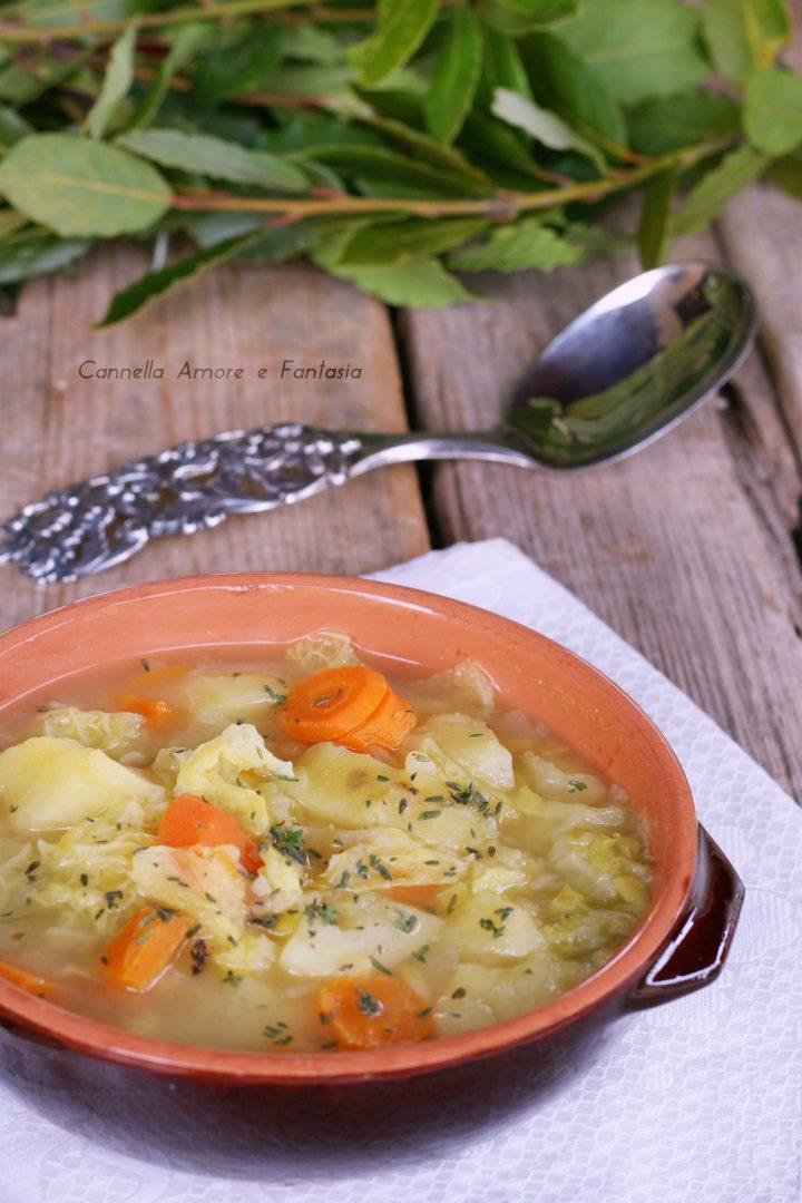 Zuppa di cavolo - ricetta light detox