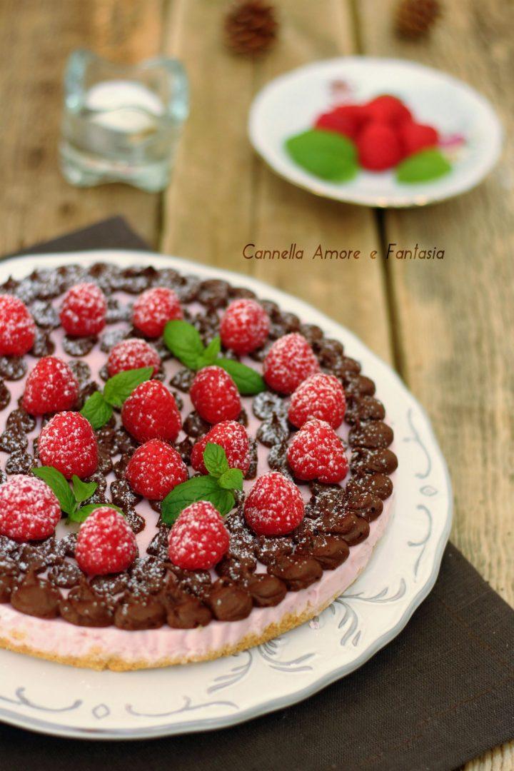 Cheesecake yogurt lamponi e cioccolato 2