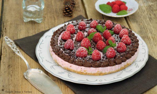 Cheesecake yogurt lamponi e cioccolato