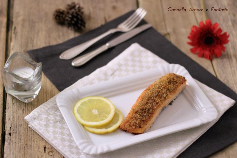 Salmone gratinato al forno - ricetta veloce