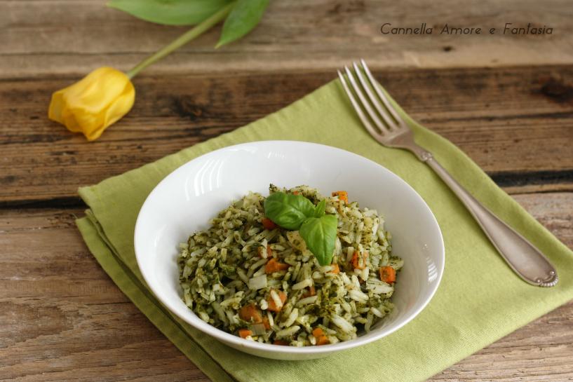 Risotto con spinaci e carote