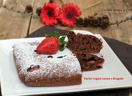 Torta vegan cacao e fragole