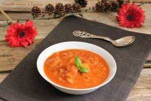 Zuppa di pesce con merluzzo e gamberi