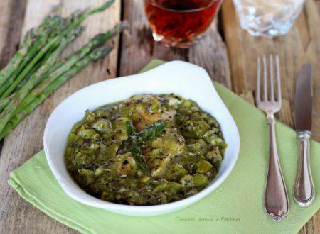 Petto di pollo cremoso agli asparagi