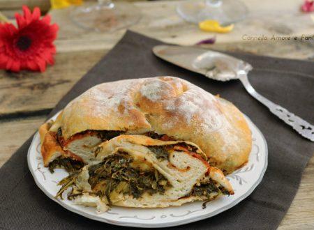 Pizza girella con spinaci cotto e mozzarella