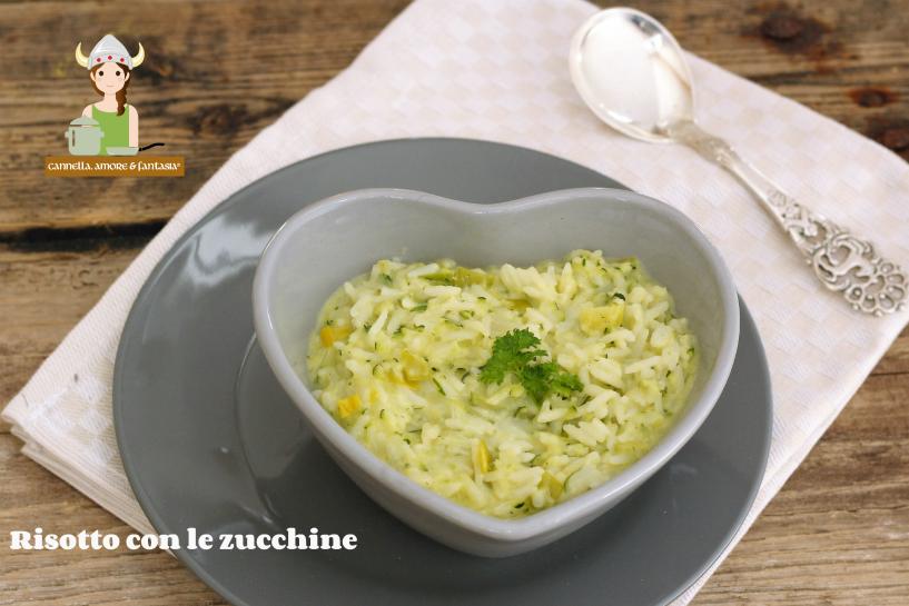 Risotto con le zucchine ricetta vegetariana