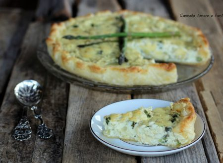 Torta salata con ricotta e asparagi