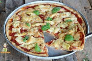 Pizza capricciosa con farina di farro