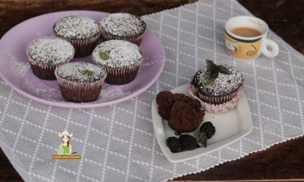 Muffin al cioccolato senza uova