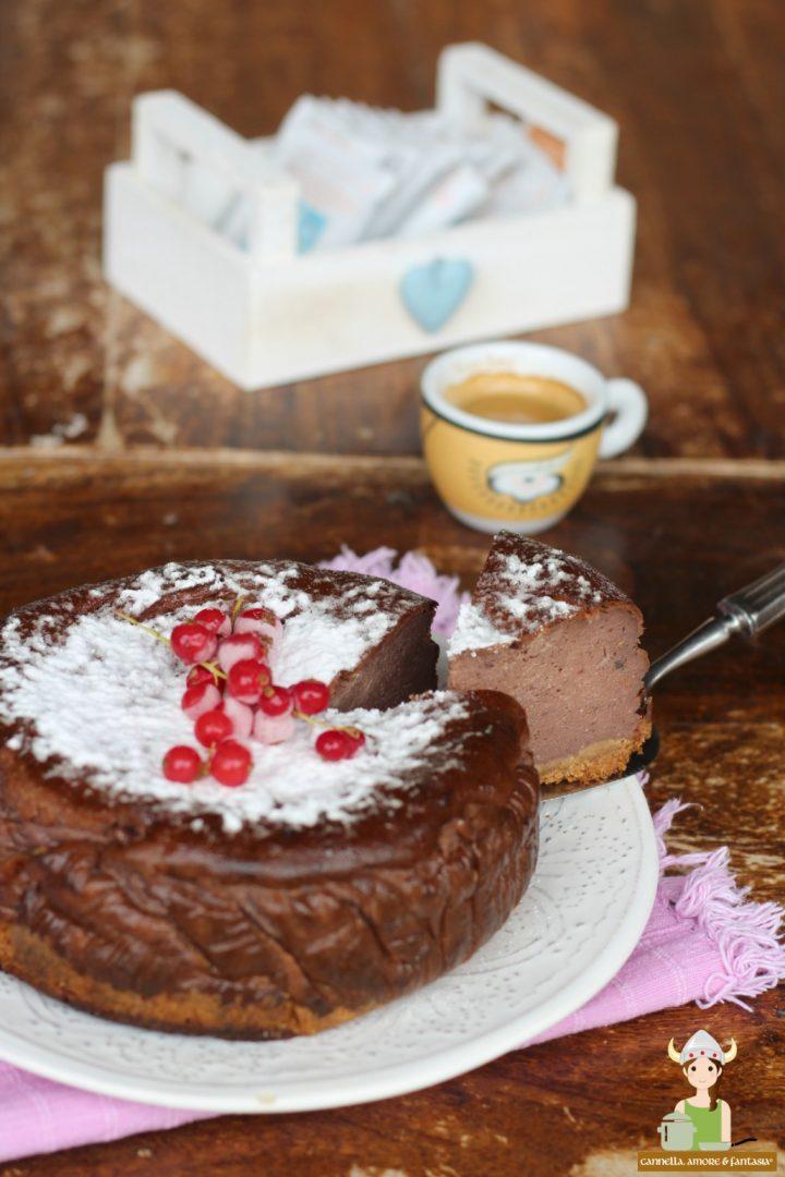 Cheesecake al cioccolato e arancia