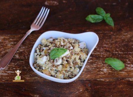 Insalata di couscous lenticchie e feta
