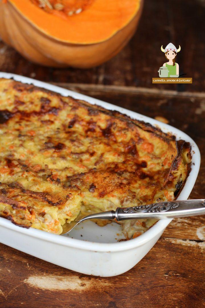 Lasagne bianche con la zucca