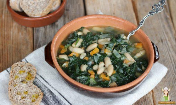 Zuppa di cannellini e spinaci
