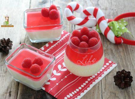 Panna cotta con gelatina di lamponi