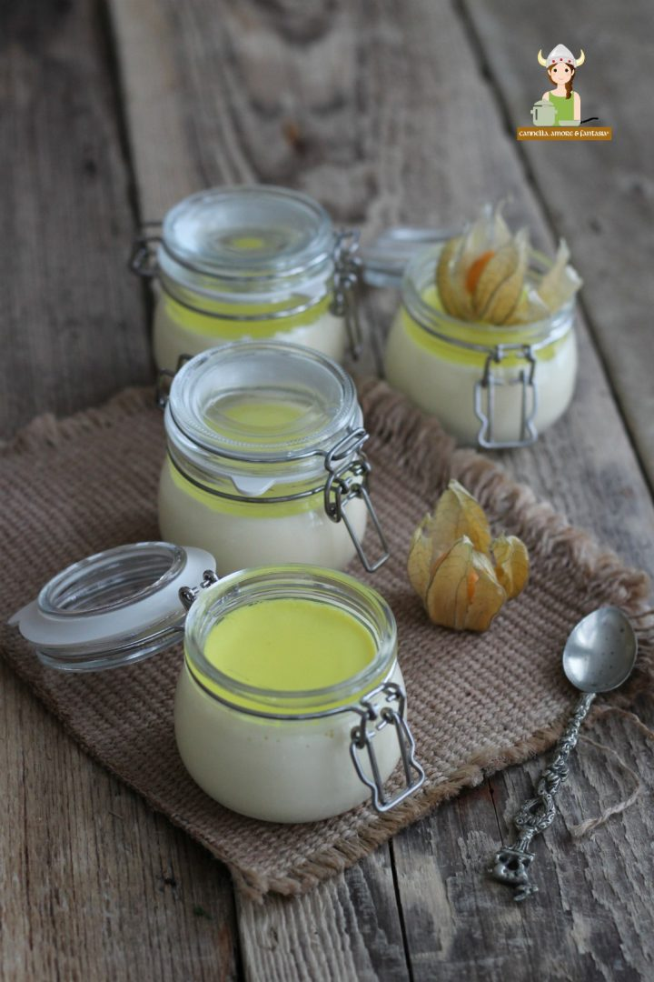 Panna cotta con gelatina di limoni