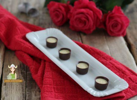 Bicchierini di cioccolato con crema allo zabaione