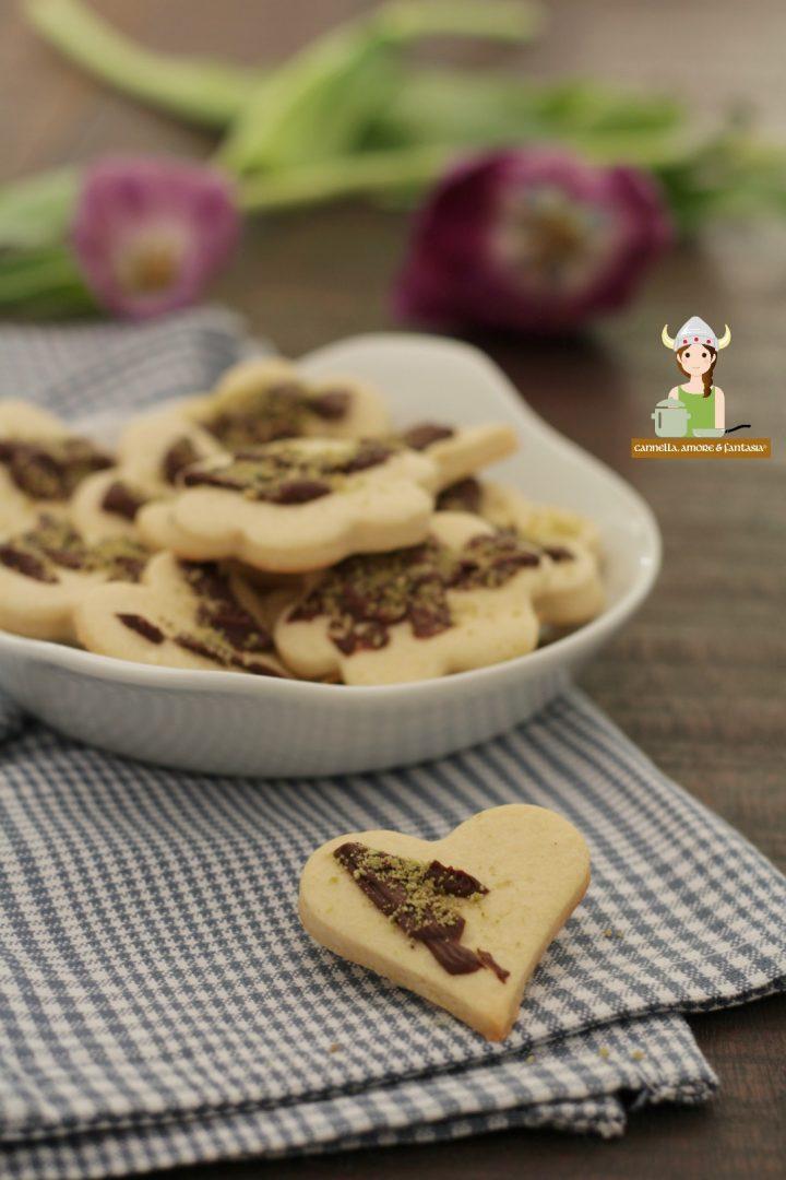 Biscotti al burro arancia e cioccolato