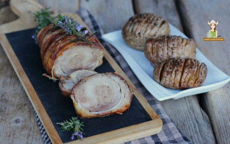 Arrosto di maiale con patate fisarmonica