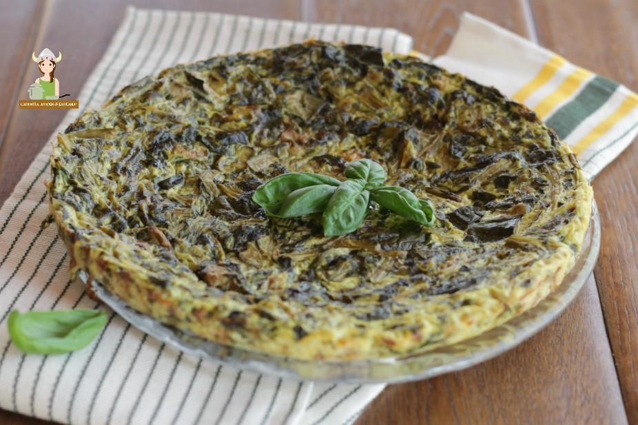 Frittata di spinaci e basilico